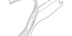 Крыло заднее левое  BMW 3 E46 (1998-2006)