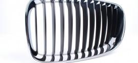 Решетка радиатора левая хром BMW 1 E87 (2004-2011)